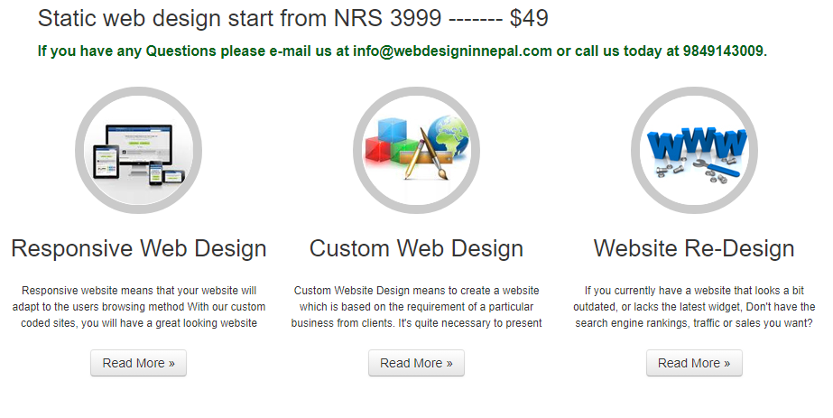 Website design price in Nepal